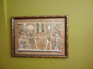 Картины из Египта, ночью светится.