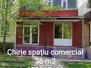 Chirie spațiu comercial Ungheni 36 m2 două intrări apă canalizare detalii la telefon
