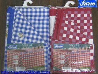 Скатерть столовая хлопковая, ткань рогожка от производителя SARM