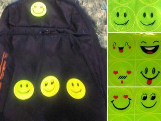 Светоотражающие наклейки на рюкзак на одежду,на велосипед для безопасности . Стикеры наклейки sticke