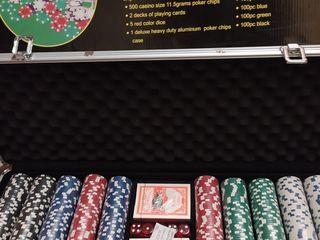 Set de poker покерный набор на 500 фишек в кейсе