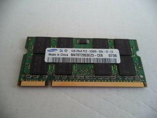 Vind memorie operativa DDR 2 Samsung 1Gb pentru notebook.