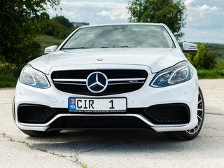 Reducere octombrie ! Mercedes E63 AMG - 79 €/zi & 15 €/ora! Cununie/inscriere/fotosesie