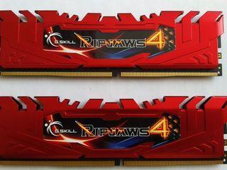 DDR4 (2x4GB) = 8GB 2400MHz PC4-19200 CL15 G.Skill Ripjaws4 Dual Channel kit - Red
