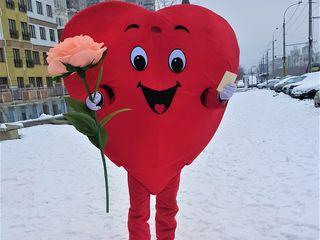 Inima curier face surpriza!! Сердце курьер, доставка подарков!