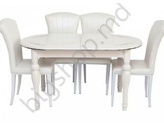 Set mg-plus dt a14 ivory (masa + 4 scaune) în credit,preț redus livrare gratuită !