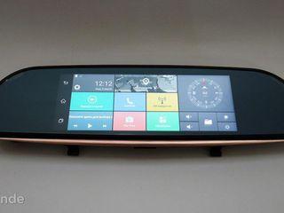 "Зеркало регистратор, 7"" сенсор, 2 камеры, GPS навигатор, WiFi, 8Gb, Android, 3G"