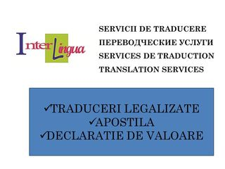 Traduceri. Apostila. Declaratie de valoare.