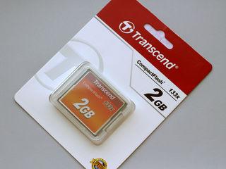 Transcend Compact Flash CompactFlash 2GB 133x карта памяти новая.