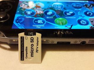 Адаптер MicroSD в Memory SD2VITA + игры для PS Vita.