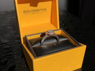 9ct white gold multi stone halo brilliant cut ring
