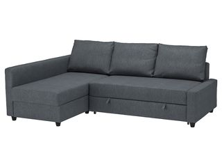 Ikea friheten coltar extensibil cu depozitare, hyllie gri inchis