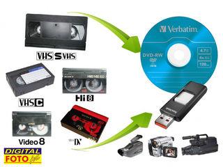 Оцифровка-перезапись видеокассет всех форматов в DVD диски