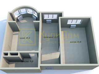 1 - комнатная квартира площадью 53,9 кв.м. в Тирасполе