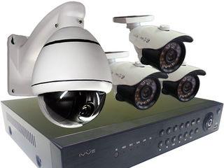 Camere supraveghere exterior/interior IP FULL HD wifi 2/4/8Camere cu monitor 13'' si memorie 1/2TB
