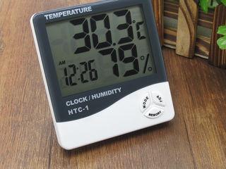 Термометр – гигрометр DC-107, с часами, календарем и будильником Цифровой комнатный термометр DC-107