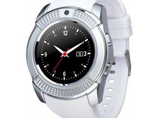 Smart watch V8 new. Круглые. Новые, в коробке. Часы-телефон с фотокамерой и bluetooth.