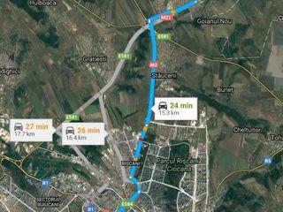 Teren pentru construcţii situat în comuna Ciorescu, mun. Chişinău, suprafaţa: 7 ar
