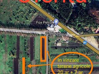 Spre vînzare 2 terenuri agricole, 20 ar și 7ar, Cojușna