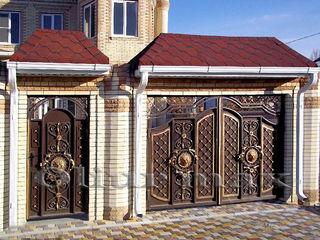 Перила, ворота, металлические двери, заборы, решётки, козырьки  и другие изделия из металла.