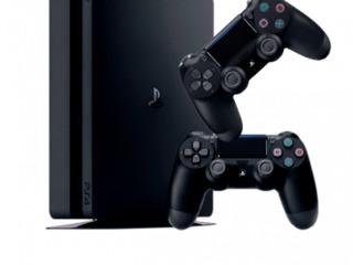 Sony Playstation 4 Slim  1 ТB + 2 Controllers/ Черный