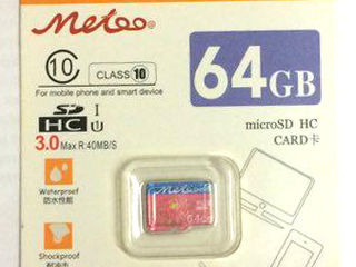 Vind micro SD 8G, 32G, 64 G, 128G  Meteo, Class 10 SDHC 3.0