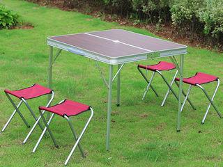 Туристический стол складной раскладной стол трансформер для пикника со стульями
