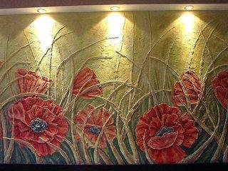 Барельефные панно, художественная роспись стен (фрески)