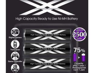 Аккумуляторные батарейки Eneloop Pro XX 2550mAh от Sanyo Panasonic Fujitsu