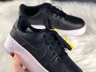 Nike Air Force 1 Sage platform Black Women's