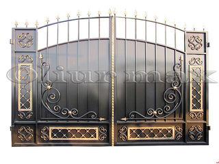 Copertine, porți,  gratii,garduri, balustrade,  uși metalice ,alte confecții din fier .