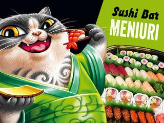 Meniuri pentru baruri, restaurante, pub-uri, cafenele, sushi baruri. Tipar. Design.