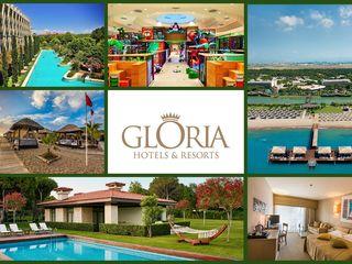Акция на сеть отелей Gloria 5*belek!!!на проживание в апреле, мае и октябре дополнительная скидка 5%