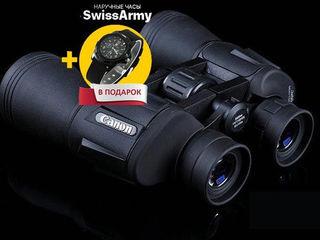 Мощный бинокль CANON 60X60 + Часы Swiss Army в подарок