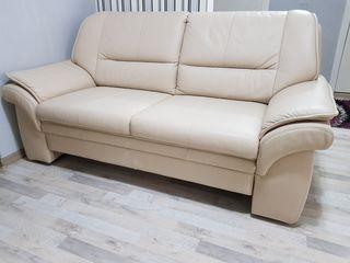 Canapea de piele naturala cu functie de dormit Himolla
