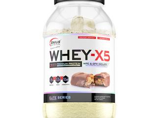 100% Органика - Genius Nutrition Whey-X5 - 2кг - Сникерс,Марс,Киндер Буэно, Запечённое яблоко.