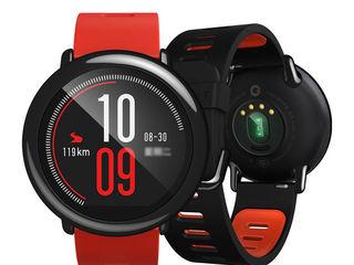 Xiaomi Huami Amazfit Watch Black/ Red - Бесплатная доставка
