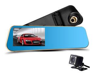 Videoregistrator Oglinda BlackBox DVR nou new  2 camere  model nou cu un disain