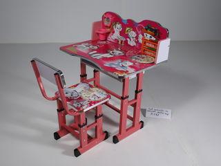 Set masuta cu scaunel, reglabile pe inaltime / детские парты