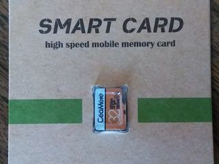 MicroSD карта памяти на 32 гиг. класс 10+. Реальный обьем, хорошая скорость.
