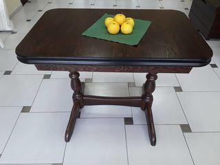 Masă extensibilă din lemn natural pentru spații mici ST-7.2. Стол из натурального дерева
