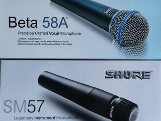 Microfon Shure Beta 58A & Shure SM 57 & Stativ la microfon 400 lei