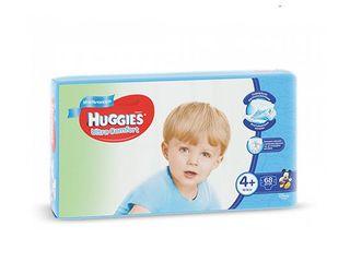 Huggies подгузники Ultra Comfort 4+ для мальчиков, 10-16кг,68 шт