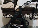 Красивая колясочка 2 в 1Baby Merk цвет шоколадки!