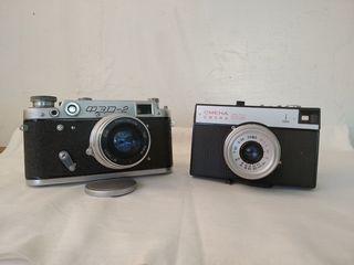 Фотоаппараты плёночные: ФЭД-2;Смена,в рабочем состоянии
