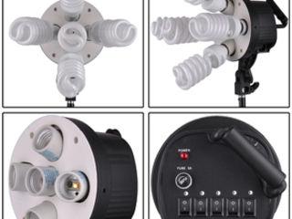 Постоянный свет для видео-фото. Держатель на 5 ламп под патрон E27 . 350 лей/шт.