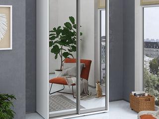 Dulap fenix, oglinda, alb 120x60x220 cm