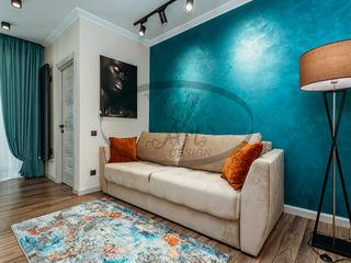 Vând apartament nou cu 1 odaie + living în zonă de parc, complet mobilat și dotat cu electrocasnice