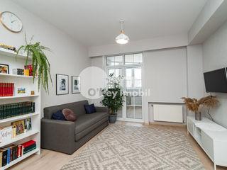 Apartament excepțional 1 cameră+living, reparație euro, mobilat, Buiucani 55500 €