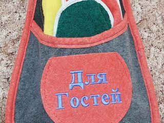 Тапочки для дома и гостей.
